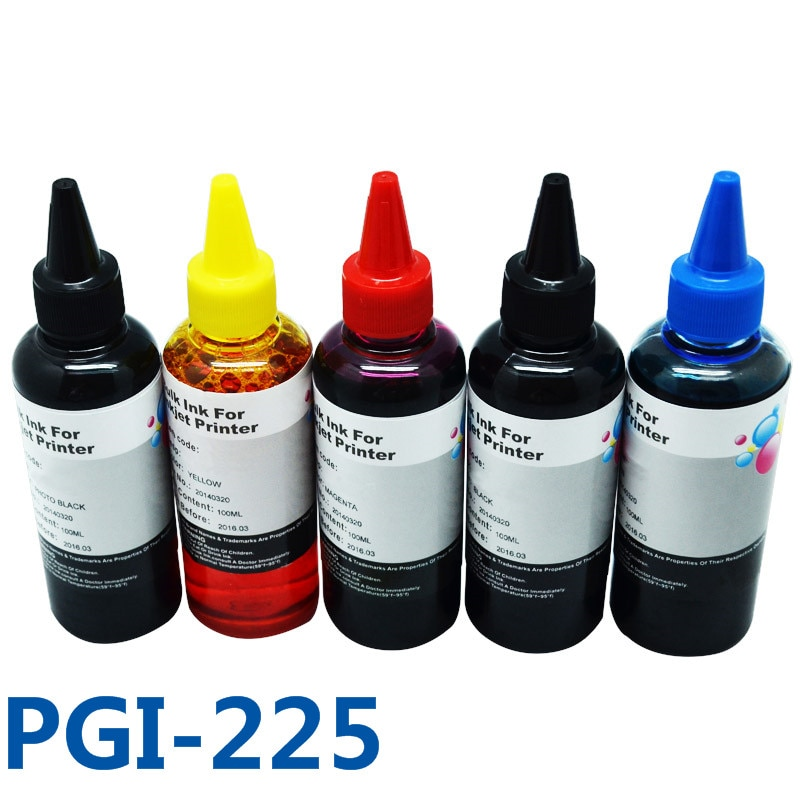 5x100ml PGI-225 CLI-226 de recarga de tinta Kit CISS tinta para impresora Canon PIXMA MG5120/5220/6120/8120/5320/IP4820/4920/MX882/IX6520