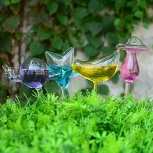 12 estilos de Casa/jardín de la Casa de la planta de auto-riego de cristal de aves regaderas flores planta decorativa de cristal de riego