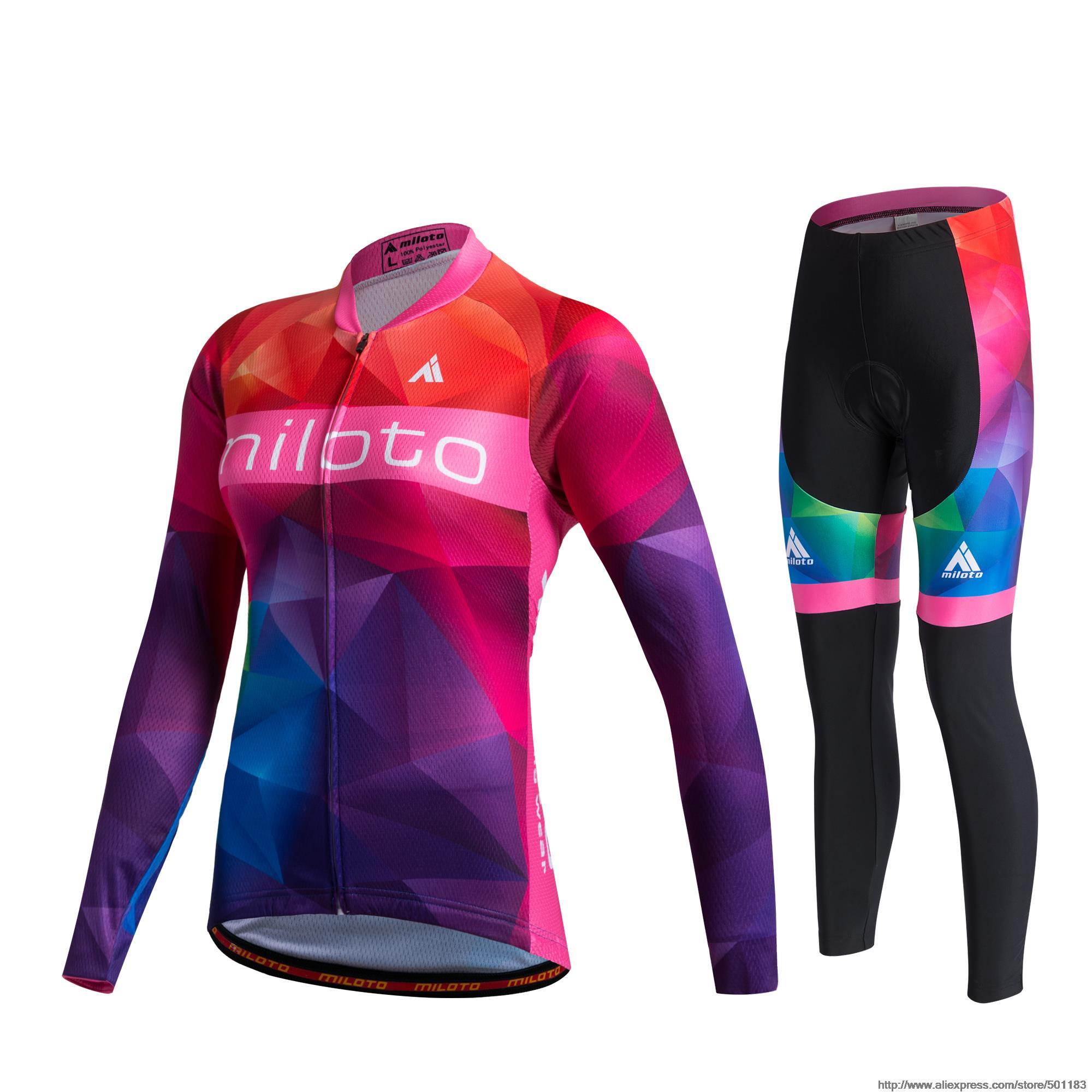 MILOTO, mujer, invierno, Polar térmico, Ciclismo, Jersey, pantalones, Ropa de Ciclismo, camisa, pantalón, muy cálidas, Ropa de manga larga