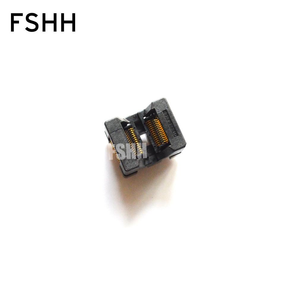 SSOP28 toma de prueba TSSOP28 OTS-28-0.65-01 IC prueba adaptador de programación de enchufe encendido 0,65mm paso 4,4mm ancho