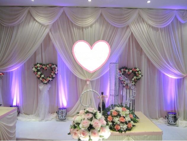 10*20 pies (3m * 6m boda fiesta evento decorativo telón de fondo colgante de pared etapa swag gasa cortina cortinas de fondo