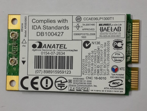 Tarjeta de red SSEA para Atheros Ar5007eg Ar5bxb63 AR2425 Mini Pci-e tarjeta inalámbrica de 54Mbps para HP 459339-004 455549-004