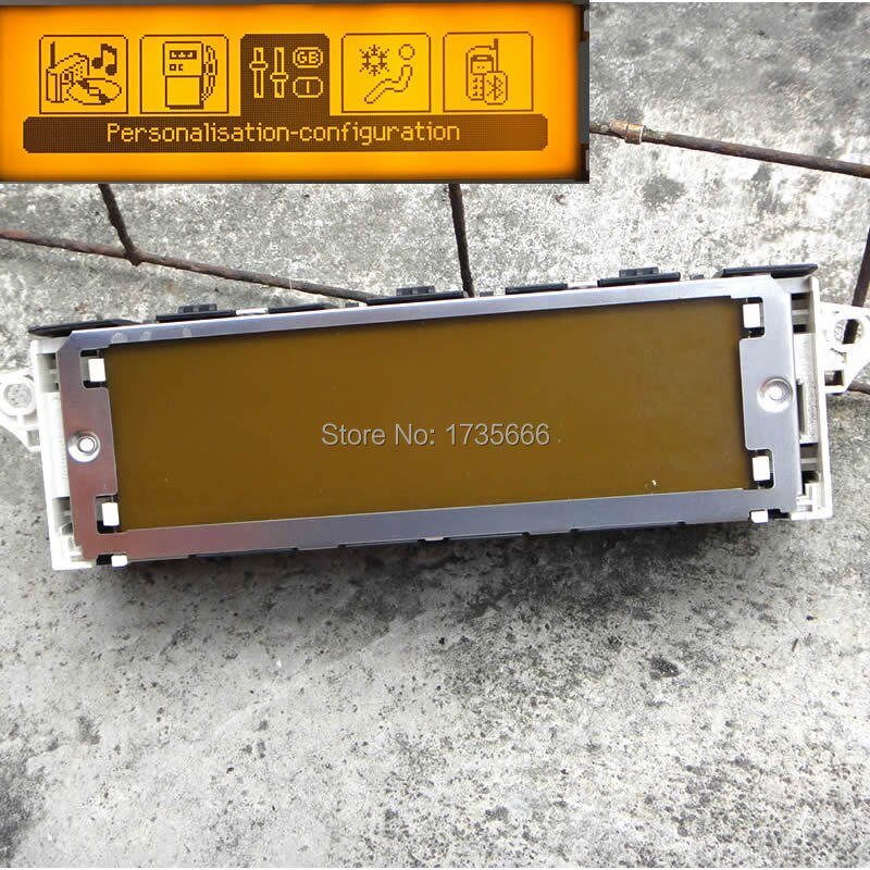 5PCS Original screen support USB Air-conditioning Bluetooth Display yellow monitorfor Peugeot 307 407 408 screen citroen C4 C5