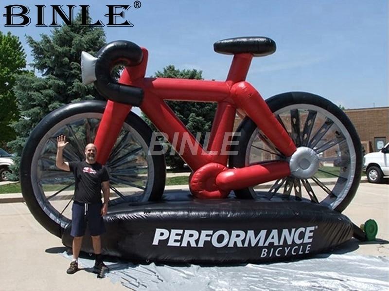 Modelo de bicicleta inflable personalizado para publicidad al aire libre venta de bicicleta inflable gigante
