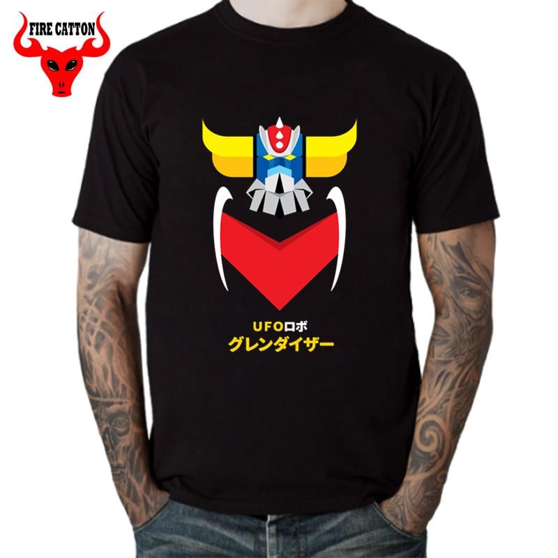 Manga caliente Goldrake Grendizer camisetas clásico japonés UFO Robot Grendizer camiseta hombres Japón Anime Mazinger Z camisetas para hombres