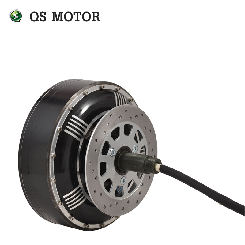 QS MOTOR 8000W 273 50H V3 72V 96V 20kW 350N.m Peak Brushless DC Gearless Electric Car In Wheel Hub Motor