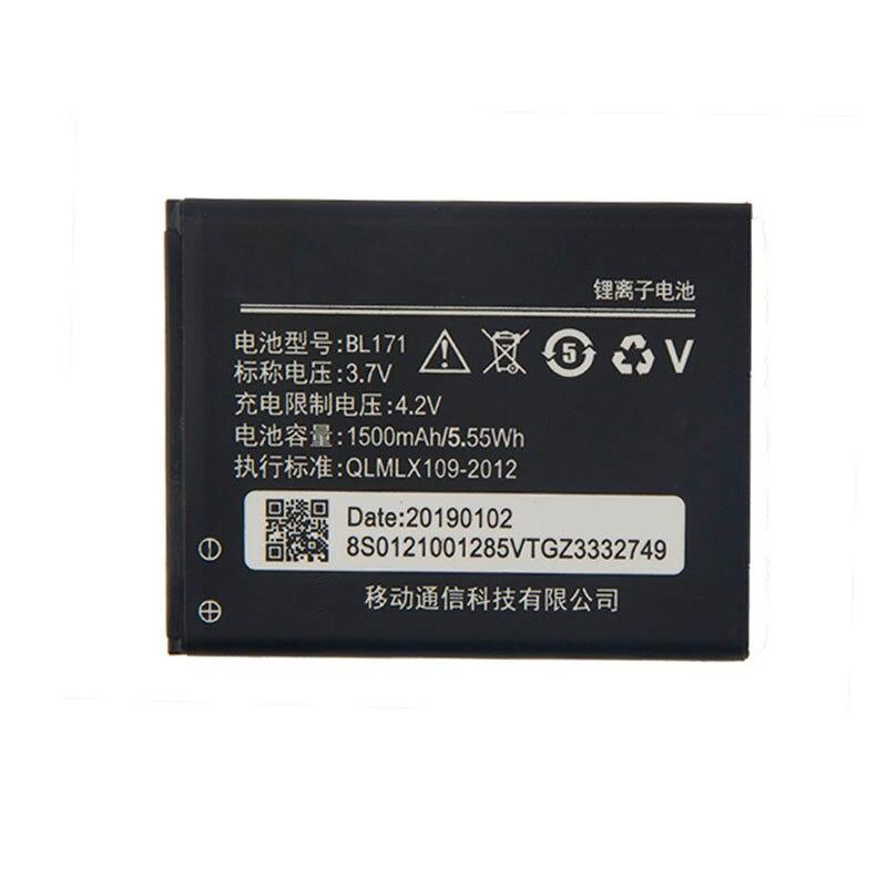 Оригинальный аккумулятор высокой емкости BL171 для Lenovo A319 A60 A500 A65 A390 A368 A390T A356 A370e 1500 мАч