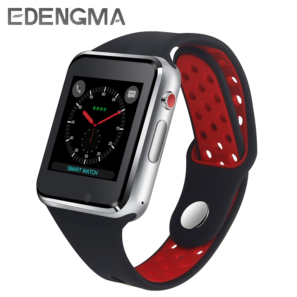 EDENGMA reloj inteligente 2018 últimos hombres mujeres Smartwatch tarjeta SIM Bluetooth deporte moda reloj para IOS Android PK DM09