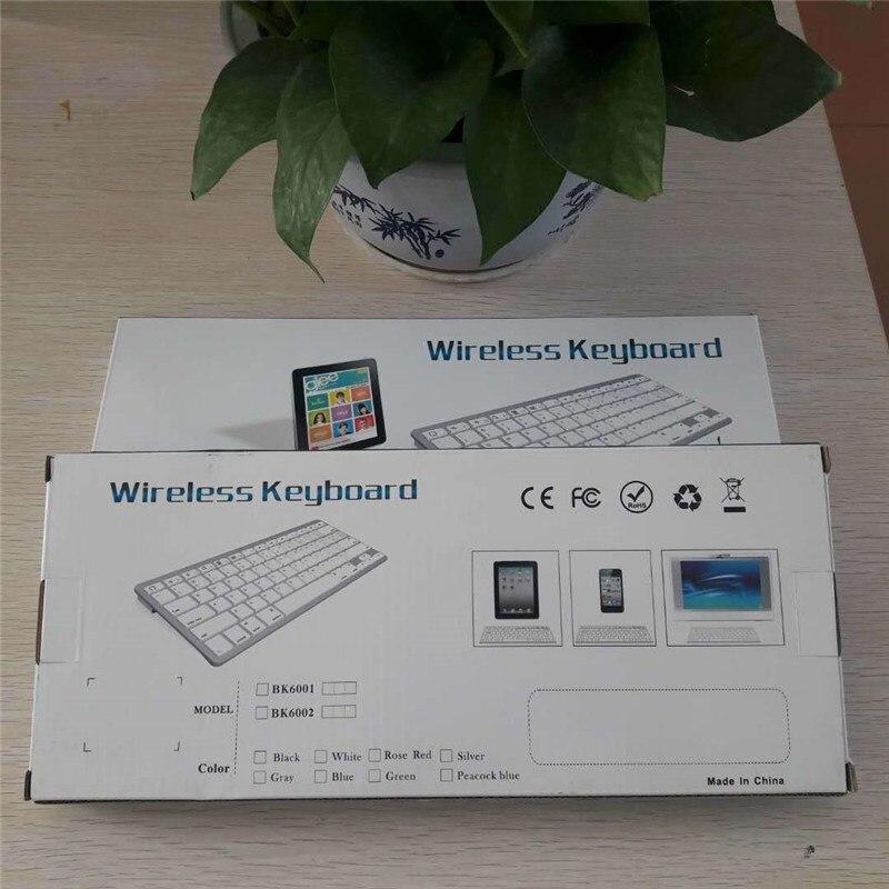 Teclado ultradelgado inalámbrico Bluetooth para Macbook ios Android windows para teléfono ordenador portátil tablet 2018