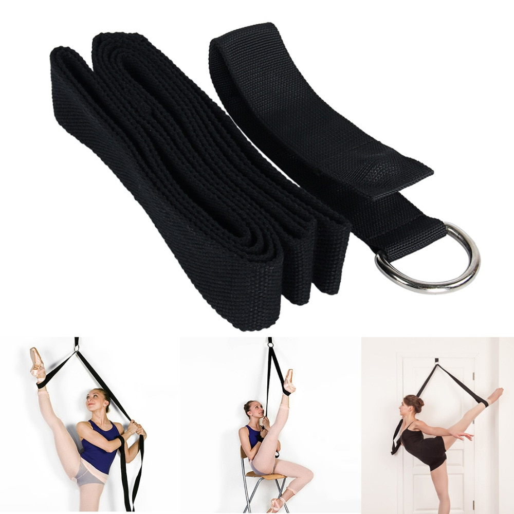 Yoga Ballet Stretch Strap Exercise Leg Stretching Strap For Physical Dance Gymnastics Fitness Workout yoga elastic stretching strap with loops exercise straps for physical therapy pilates ballet hamstring stretch bands