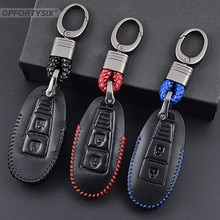 Genuine Leather Car Key Fob Cover Key case wallet exclusive For Suzuki Grand Vitara Ignis Liana Samu
