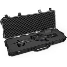 Étui à pistolet longue boîte à outils étanche de protection boîte à instruments valise résistant aux chocs boîte à outils avec mousse prédécoupée
