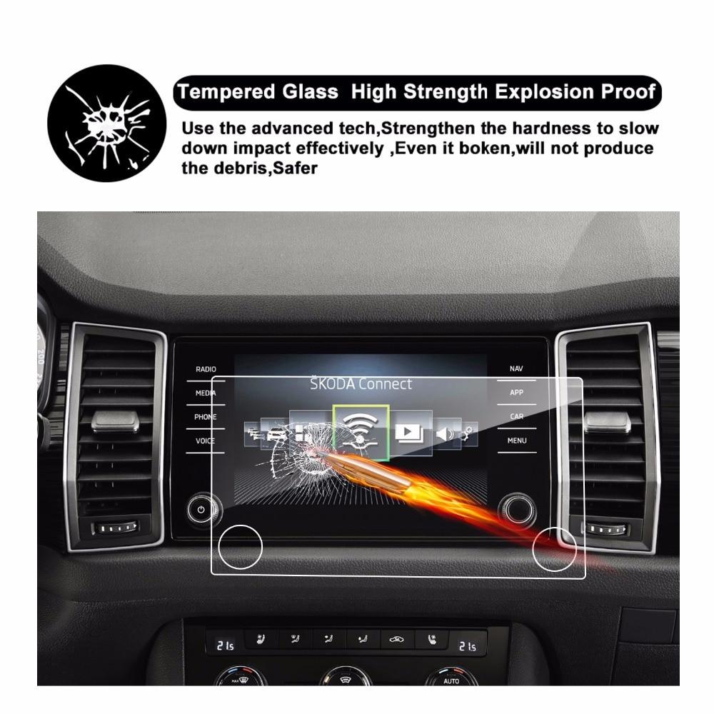 RUIYA 9H защита экрана из закаленного стекла для Skoda kodiaq Bolero Amundsen 8 дюймов Автомобильный gps навигатор сенсорный экран, 9H закаленная пленка
