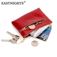 eastnights high quality genuine leather women mini wallet oil wax leather coin purse wallet men coin credit card holder tw2087