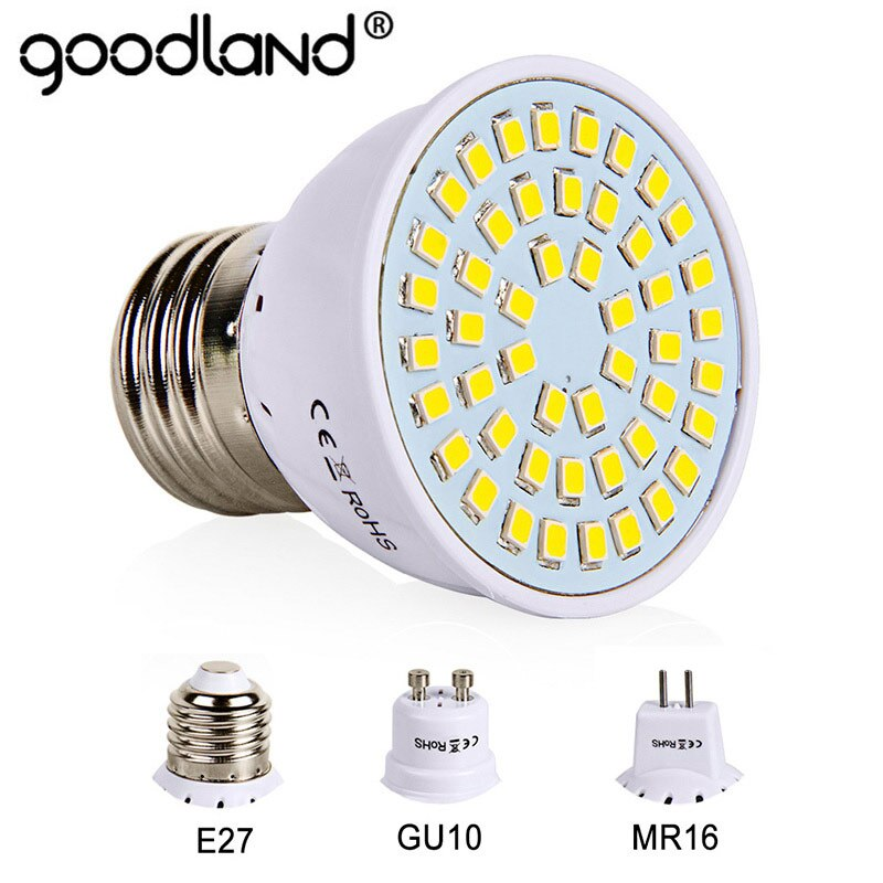 E27 Led-lampe GU10 LED Lampe 220V SMD 2835 MR16 Scheinwerfer 48 60 80LEDs Warmweiß Kaltweiß lichter für Home Dekoration Ampulle