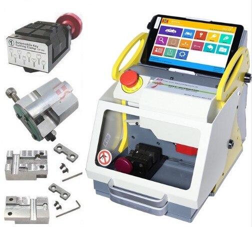 2019 Auto Locksmith Tool SEC-E9 CNC Key Cutting Machine Multi 4 Clamp Language Version