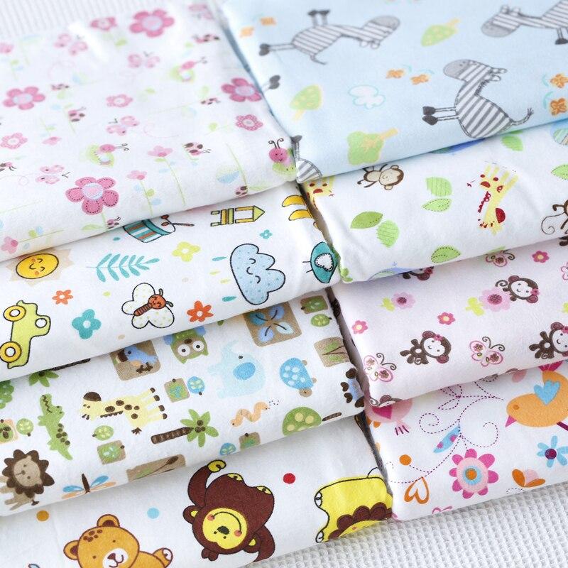Фланелевая ткань для детей, Пижама для детей с 9 животными, обезьяной, осликом, птицей, львом, цветком и листом, 100% хлопок
