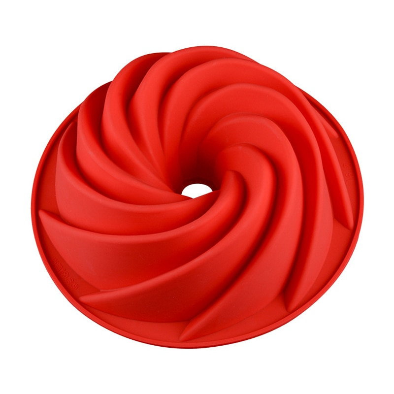 Molde de silicona para Tartas UPORS de 9 pulgadas con forma de espiral grande 3D, molde de silicona de grado alimenticio para Tartas de gasa y mantequilla, moldes decorativos para tartas de Pascua