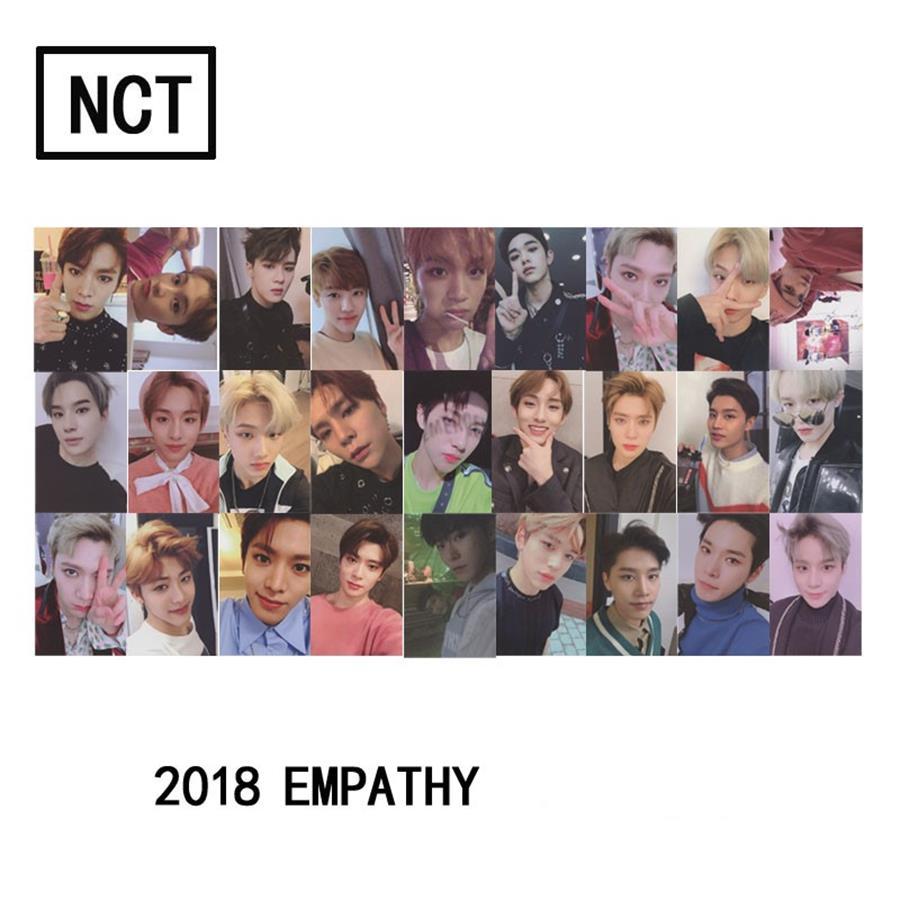 Kpop NCT U NCT127 2018 Empathie Lomo Foto Karten Selbst Made Autograph Photocard Karten