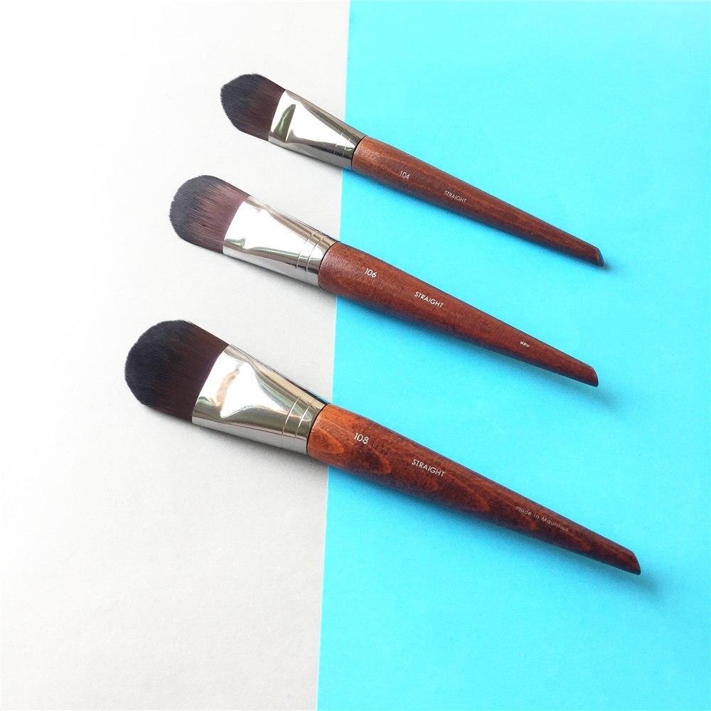FOUNDATION BRUSH LARGE 108 / MEDIUM 106 / SMALL 104 - Flat Cream Liquid Foundation Brush - Beauty makeup brushes Blender