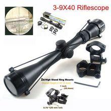 3-9x40 Hunting Mil Dot Air Geweer Tactical Scope Telescopische Sight + 20mm/11mm Rail MOUNTS Optische jacht Schieten Sight