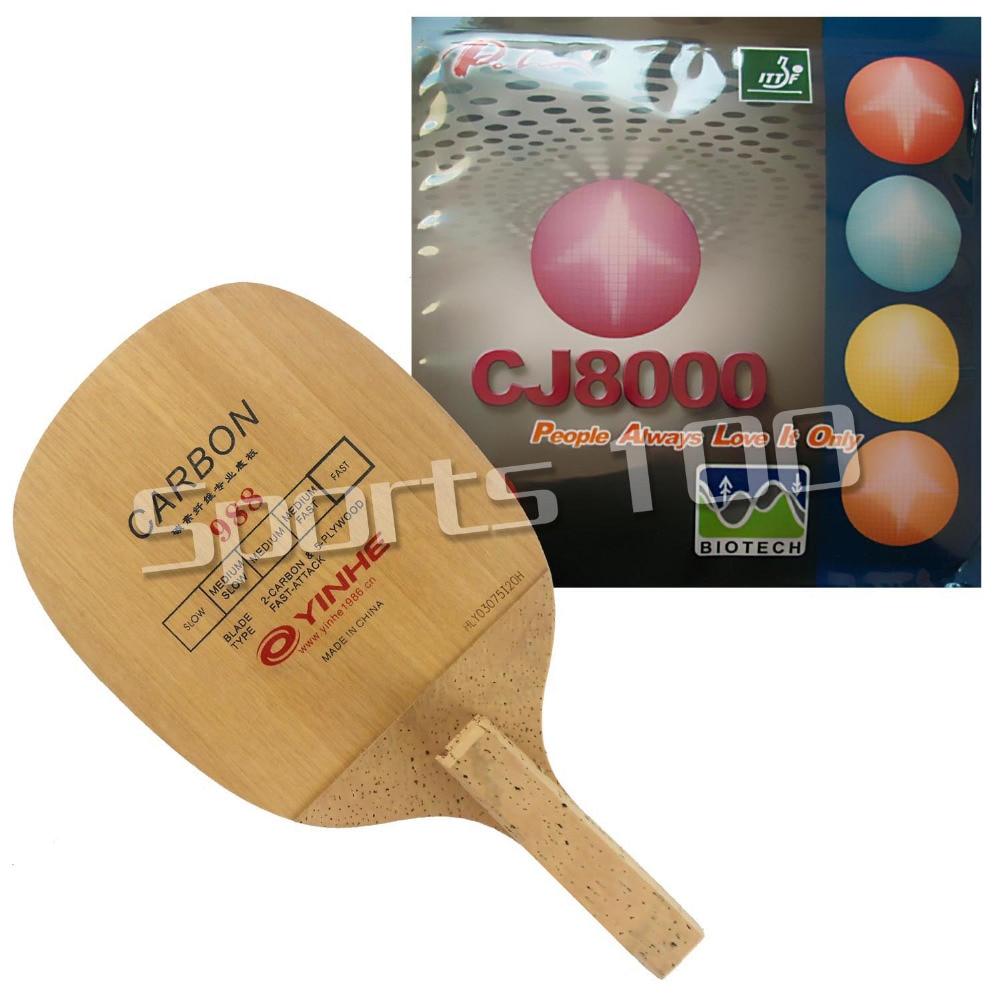 Pro Combo-raqueta de tenis de mesa Galaxy 988 (YINHE 988) con Palio CJ8000 de BIOTECH 2-lado de tipo lazo H36-38 japonés Penhold