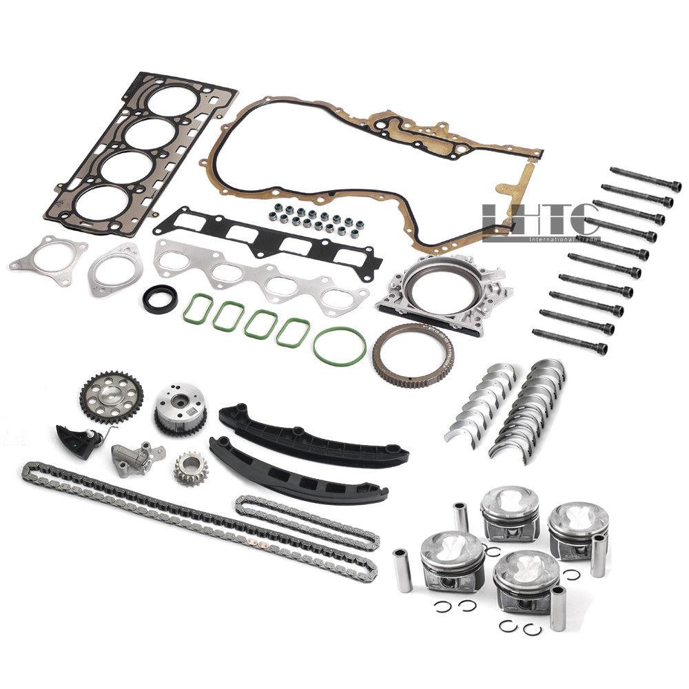 OEM Quality Engine Pistons Gaskets Timing Overhaul Rebuild Kit For V W AUDI 1.4 TSI CAVD CTHD
