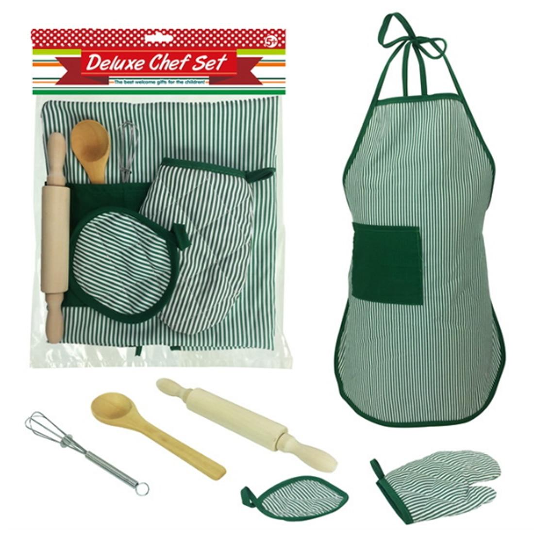 2018 kinder Chef Set DIY Kochen Backen Anzug Spielzeug Set Neue Pretend Spielen Schürze Handschuhe Rolling Pin Schneebesen Herd Geschenk für Kinder