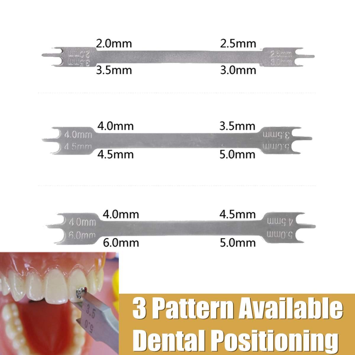 שיניים אורתודונטי מכשיר סוגר מיצוב גובה מד פתיל סוג כלים שיניים Positioner שיניים אביזרי 3 גדלים