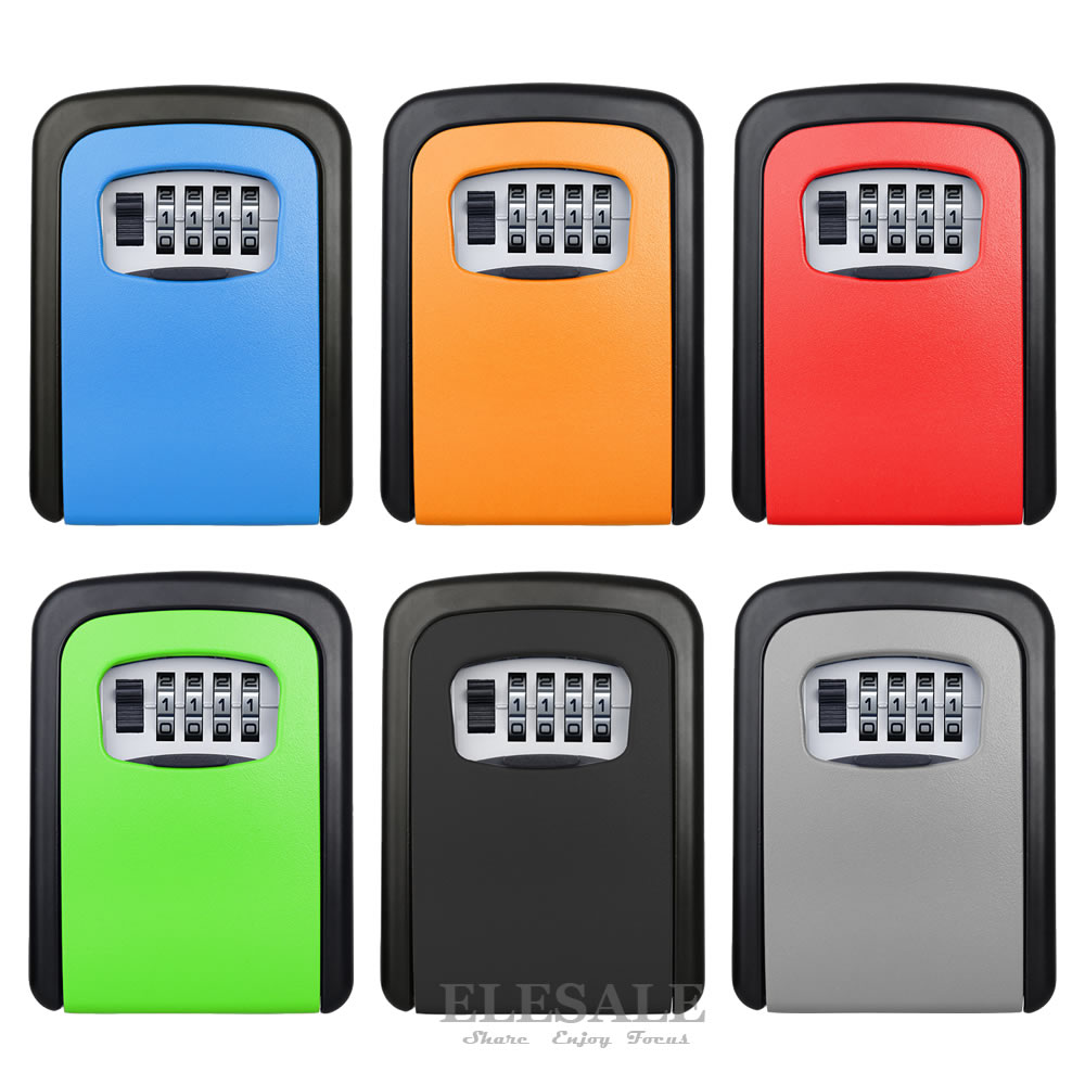 صندوق تخزين مخفي مثبت على الحائط مع 4 أرقام ، قفل بكلمة مرور ، منزل ، سيارة