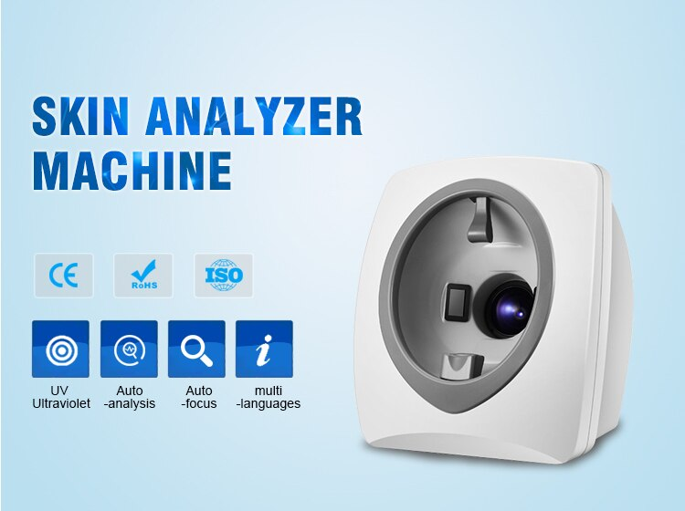 Smart Skin Scanner Analyzer/Magic Mirror Facial Analysis Machine Digital Image Technologies /1.7''CCD For Beauty Salon