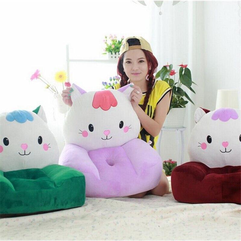 Fancytrader gato de peluche sofá de juguete de cara grande animal gato verde rosa rojo silla cojín para niño