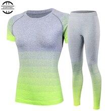 Nouveaux survêtements pour femmes Yoga ensembles respirant Sport costume Fitness Gym course ensemble Yoga petit haut pantalon vert Yoga pour les filles