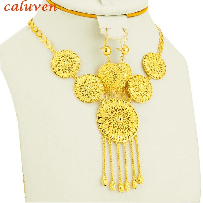Dubai/Ethiopian/Arabic/Oman Habesha Jewelry sets Jewelry Women Wedding Gold Color African/Eritrea/ Wedding Gifts