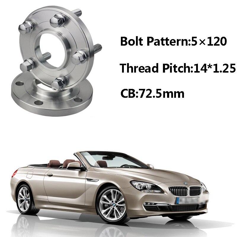 Boulons pour BMW F12 F11 F21 F15 F34 F01 F02 F03 F10 F13 F26 F01 5x120 72.5CB   2 pièces, moyeux despacement de roue centrale M14 * 1.25