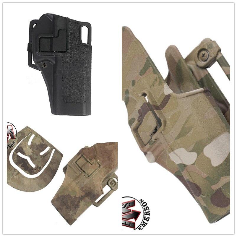Oferta EMERSON, pistola táctica para exteriores, funda de cinturón de caza Airsoft militar, funda para pistola a la derecha, funda con cubierta para Glock 17
