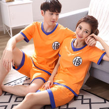 Dragon Ball Z Goku Homewear famille correspondant amant Couple Anime Cosplay décontracté T Shirt Shorts costume ensemble 2019 adulte maison porter