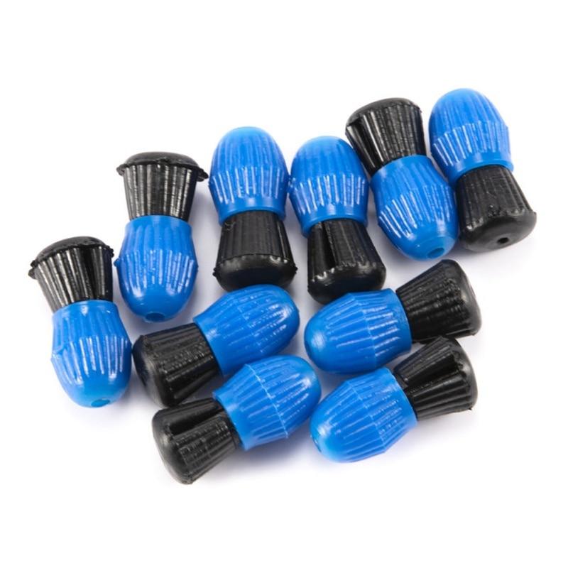 10 Uds. Herramientas de aparejos de pesca flotan Bolas de plástico boya de tope de pesca Aleteo para recordar anzuelos de mordida para peces