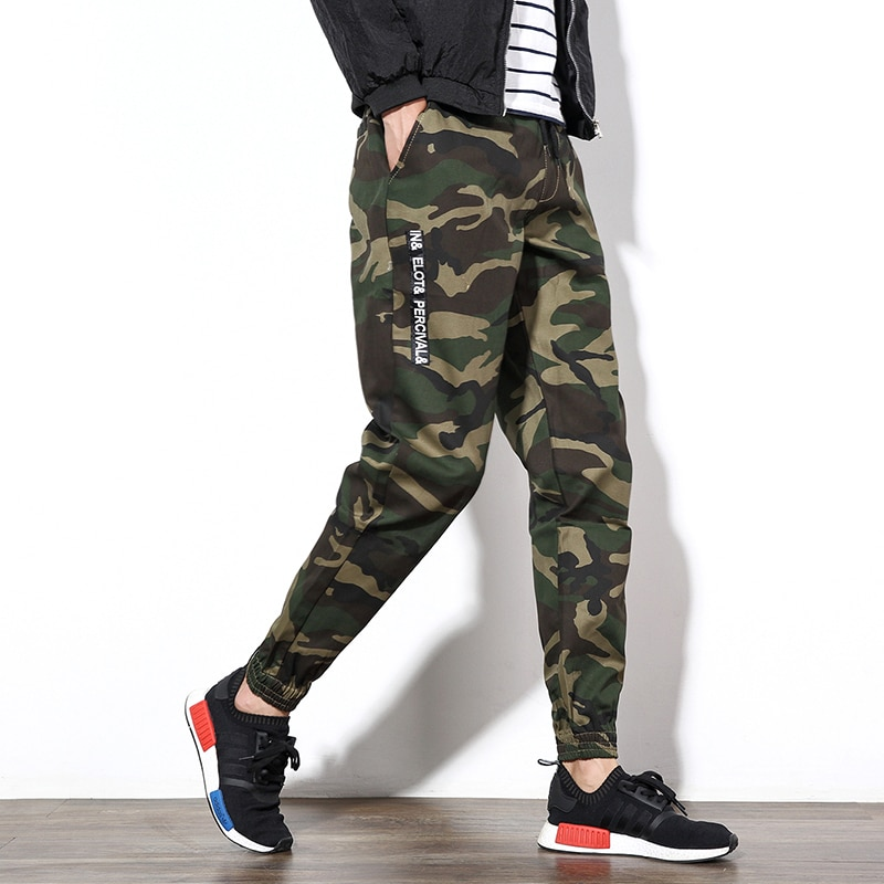 Spring Large Size Men Joggers Casual Harem Pants Fashion White Camouflage Trousers Man Brand Cargo Pants Pantalons Homme