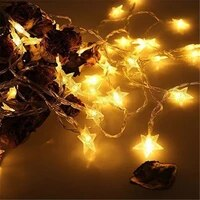 10m 80 led five pointed star shape twinkle string light battery operated fairy lights party wedding christmas garland decoration