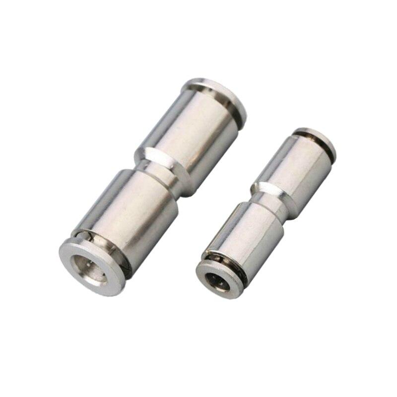 Unión de aire neumática de Latón chapado en níquel, Ajuste rápido, igual o reductor de 4mm, 6mm, 8mm, 10mm, 12mm, 14mm, 16mm, OD