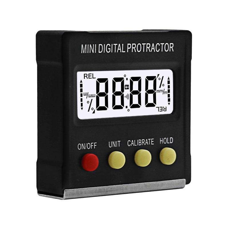 360Degree Mini Digital Protractor Inclinometer Electronic Level Box Magnetic Base Measuring Tools