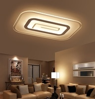 Slim Acrylic LED Ceiling Light Living Room Bedroom Study Room Lamp Office & Commercial Ceiling Lamp 110-240V