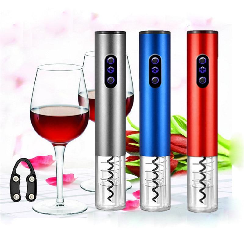 Set de abrebotellas de vino eléctrico de clase alta de 25,2x4,5 cm, sacacorchos automático inalámbrico para vino tinto, herramienta de abrebotellas, cortador de papel de aluminio