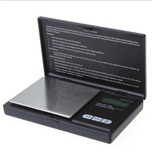 1Pc 100g/200g x 0.01g Digital Scales Mini Portable Precision Reloading Powder Grain Jewelry Carat Black Three Weighing Modes