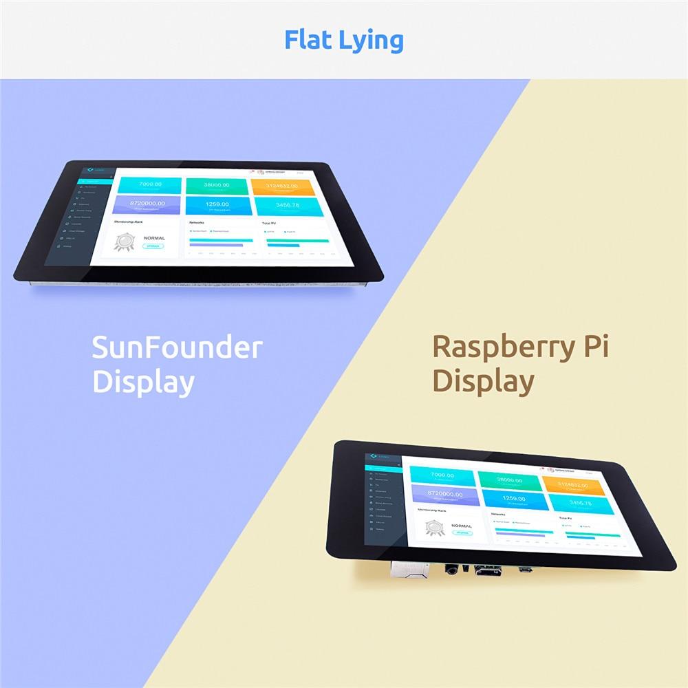 SunFounder 10.1 IPS LCD Touch Screen Display Monitor HDMI 1280*800 for Raspberry Pi 4B 3B+ 3B 2B  LattePanda Beagle Bone enlarge