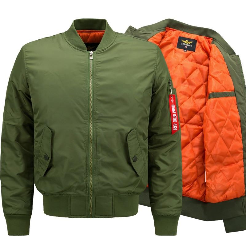 Casacos de inverno Outerwear Piloto Homens Do Exército Verde Casaco Bomber Vôo Jaqueta de algodão roupas de Inverno tamanho M-8XL 2018 Novo Estilo