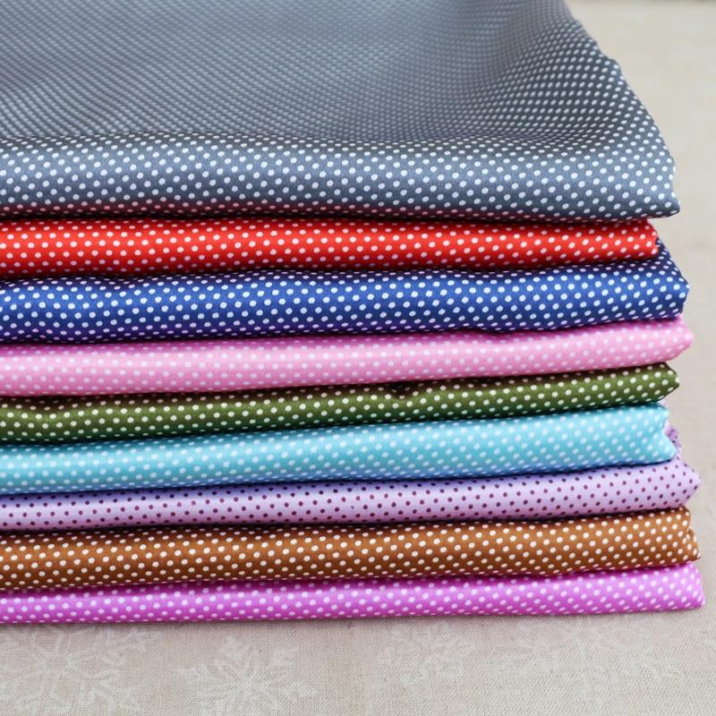 Mini polka dot print fabric craft diy clothing material textile satin