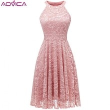 Aovica Vintage Floral Lace Off Shoulder Pink Dress Women High Low Hem Midi Party Robe Vestidos Ladies Burgundy Red Dresses
