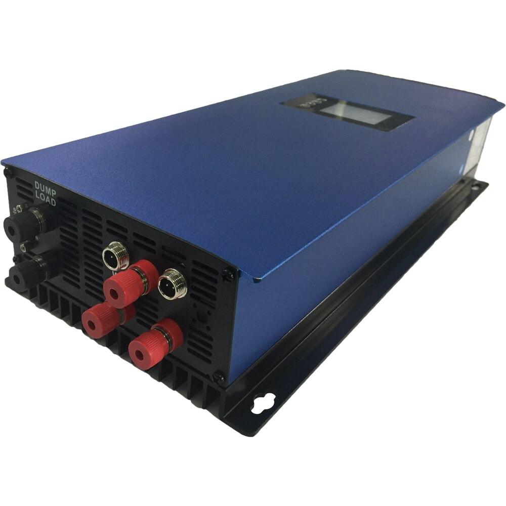 2000W MPPT محض موجة جيبية شبكة التعادل العاكس مع LCD و تفريغ الحمولة المقاوم ل 3 المرحلة AC الناتج توربينات الرياح